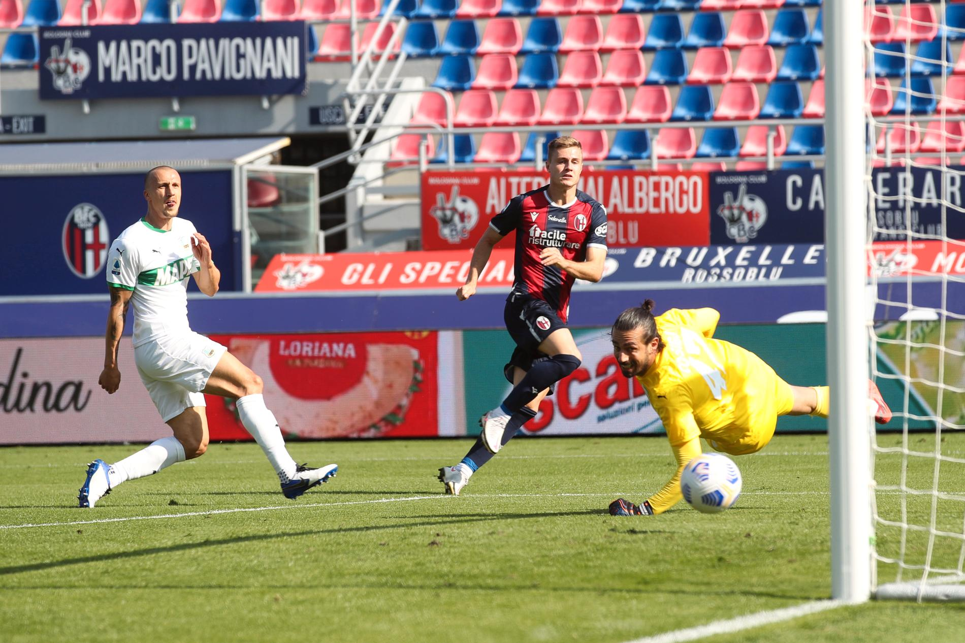 Mattias Svanberg blev målskytt, men fick se sitt Bologna förlora.