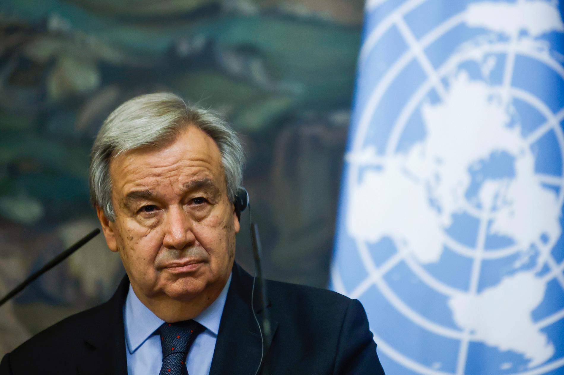 FN:s generalsekreterare António Guterres fortsätter på sin post fem år till. Arkivbild.