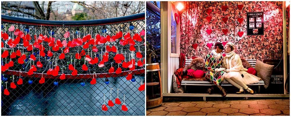 Frossa i romantik på Tivoli i Köpenhamn.