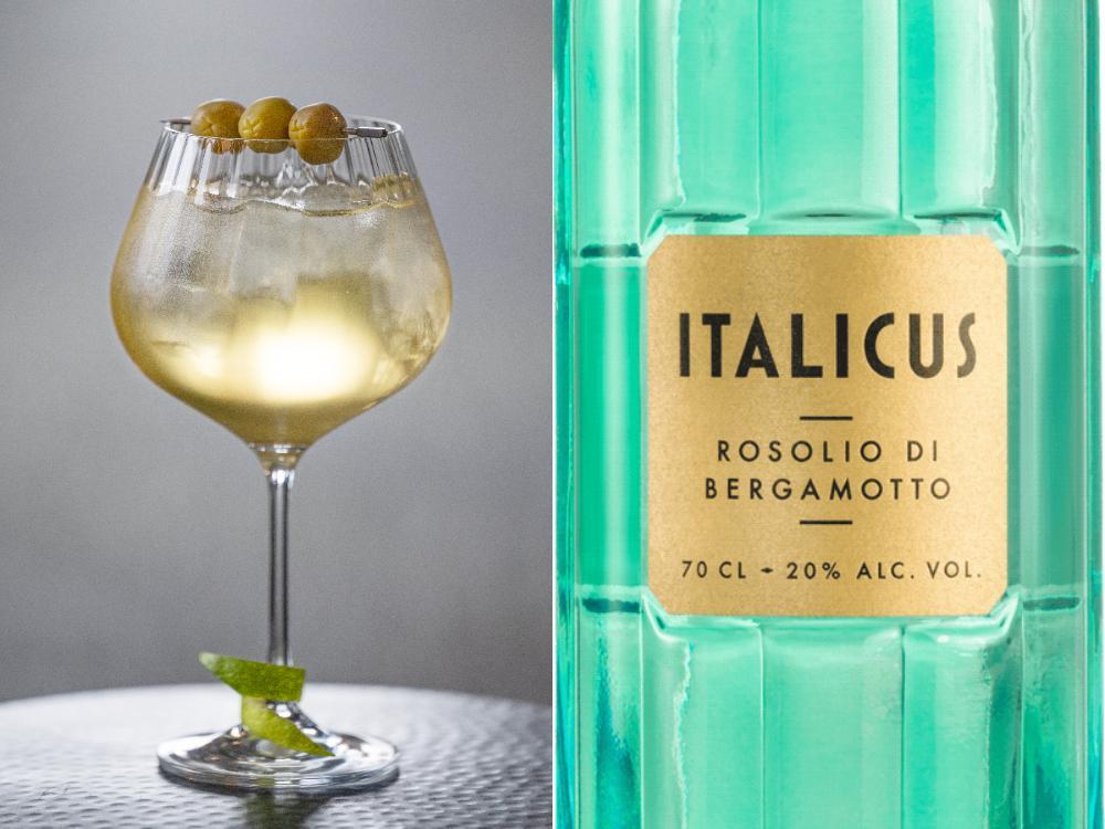 Italicus spritz innehåller bara två ingredienser.