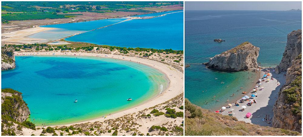 Voidokilia på Peloponnesos och Kaladi på Kythera är två storfavoriter hos resexperterna.
