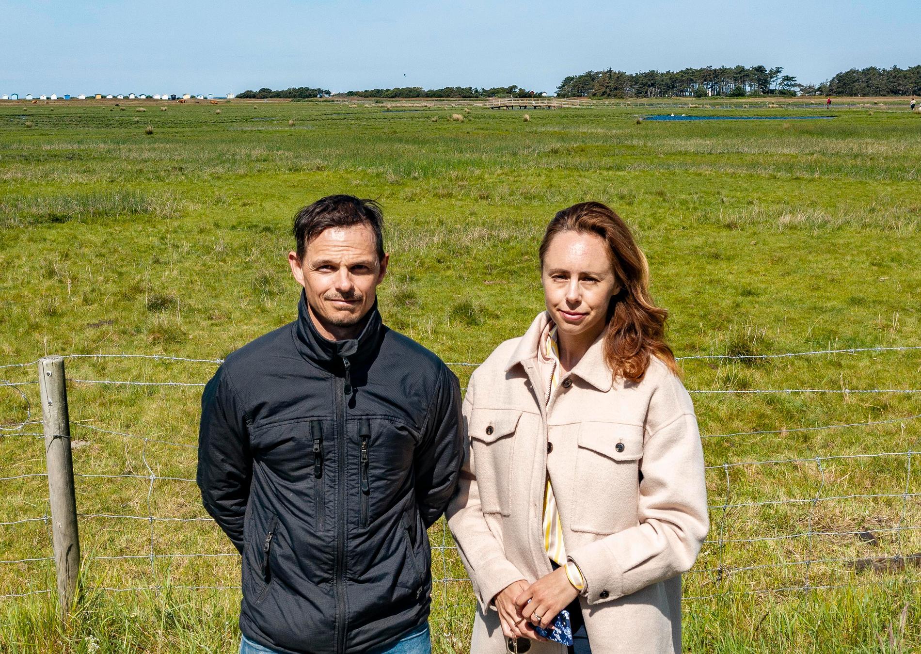 Aftonbladets Peter Wixtröm och Helena Trus på plats i Falsterbo.
