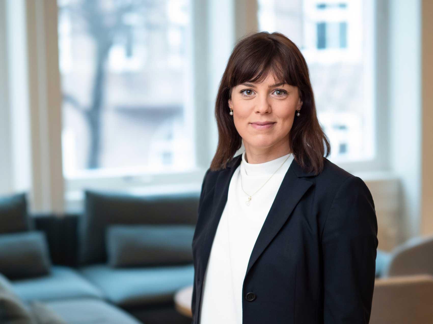 Cementas hållbarhetschef Karin Comstedt Webb.