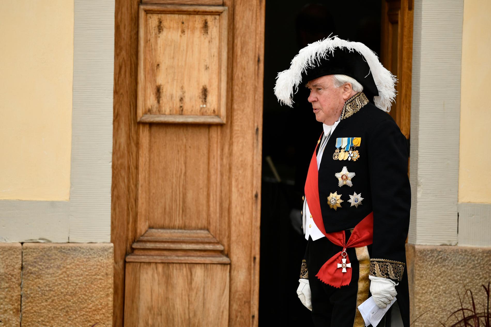 Överceremonimästaren ambassadör Johan Molander.