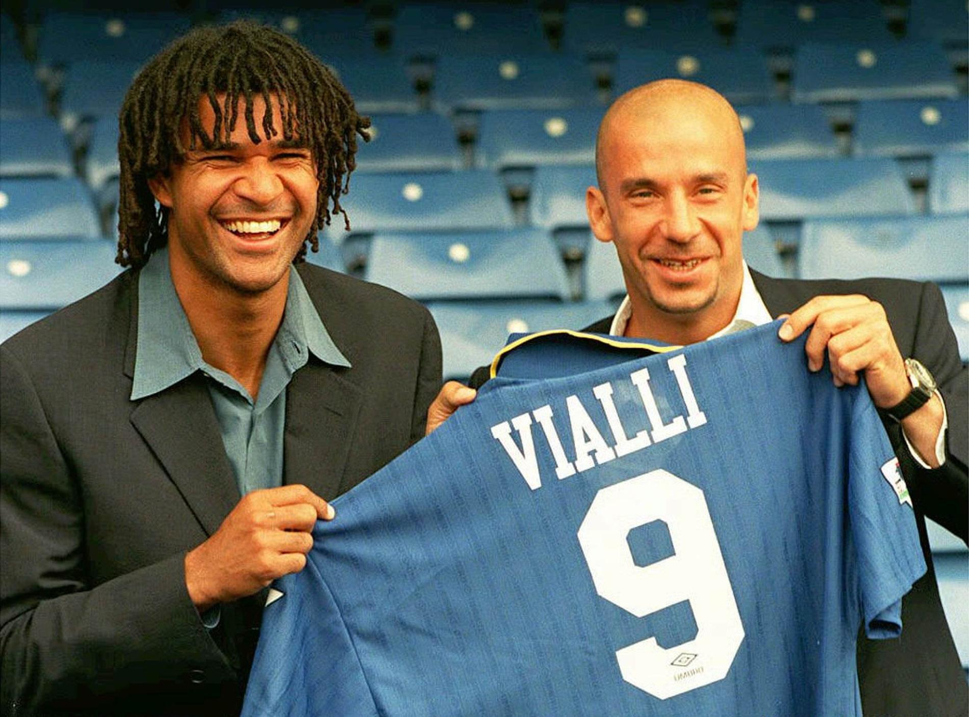 Ruud Gullit och Gianluca Vialli i Chelsea.