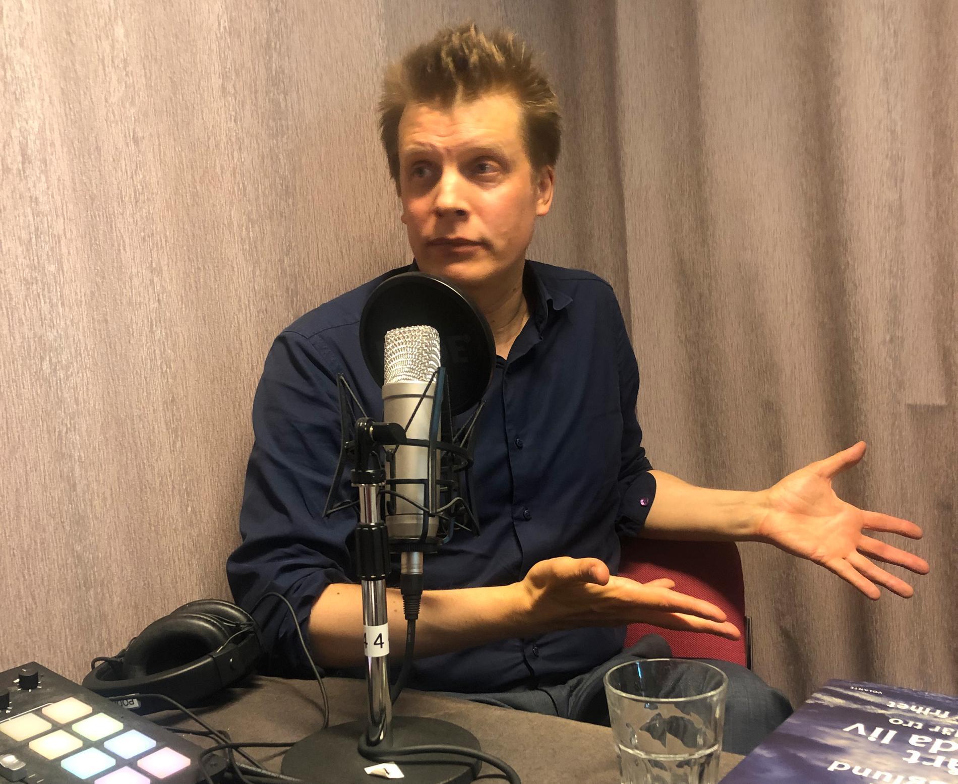 Martin Hägglund i Aftonbladets poddstudio.
