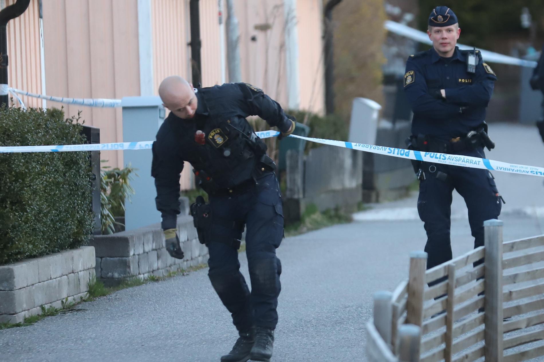 Den tredje explosionen skedde i Skogås, söder om Stockholm.
