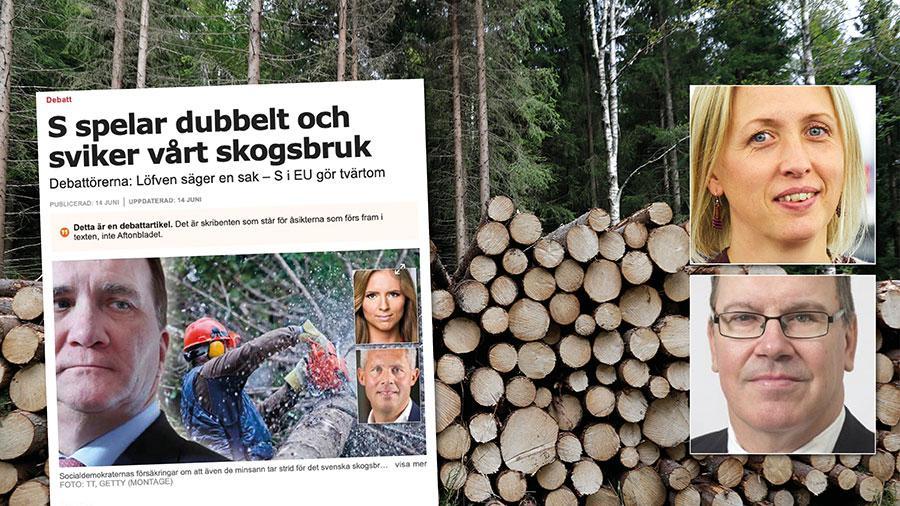 Vi kan försäkra KD om att det inte förekommer något mystiskt dubbelspel i korridorerna i Bryssel. Vi socialdemokrater har alltid tagit fajten för att värna det nationella självbestämmandet i skogsbruket och den långa erfarenheten som Sverige har av hållbart skogsbruk. Replik från Jytte Guteland och Erik Bergkvist.