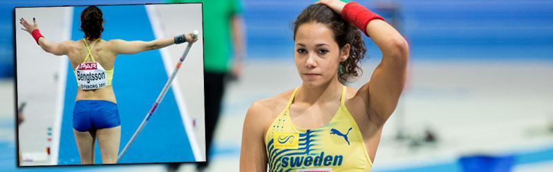 En frustrerad Angelica Bengtsson.