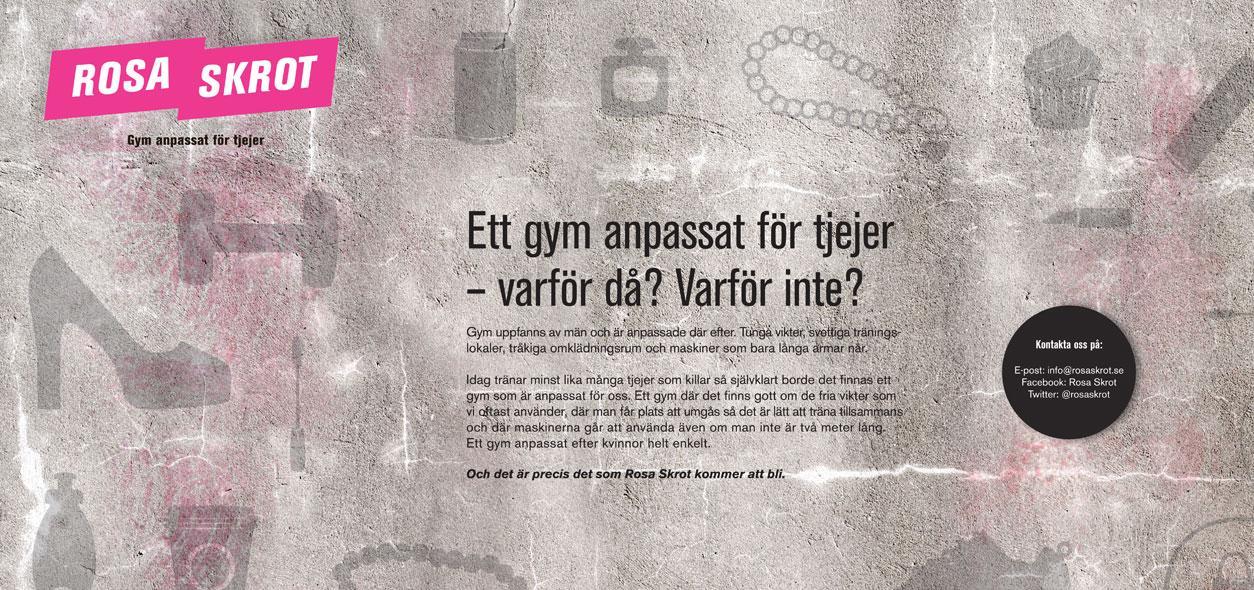 Annonsen ska locka tjejer till gymmet.