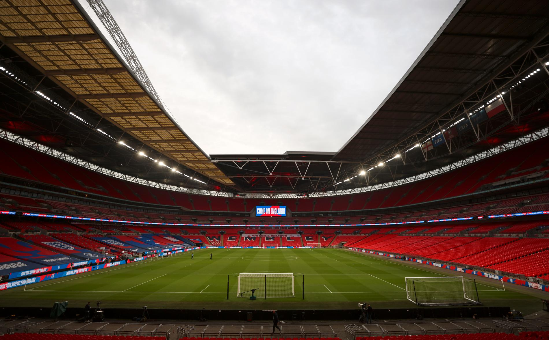 Wembley Stadium i London är värd för båda semifinalerna samt finalen i fotbolls-EM 2021.