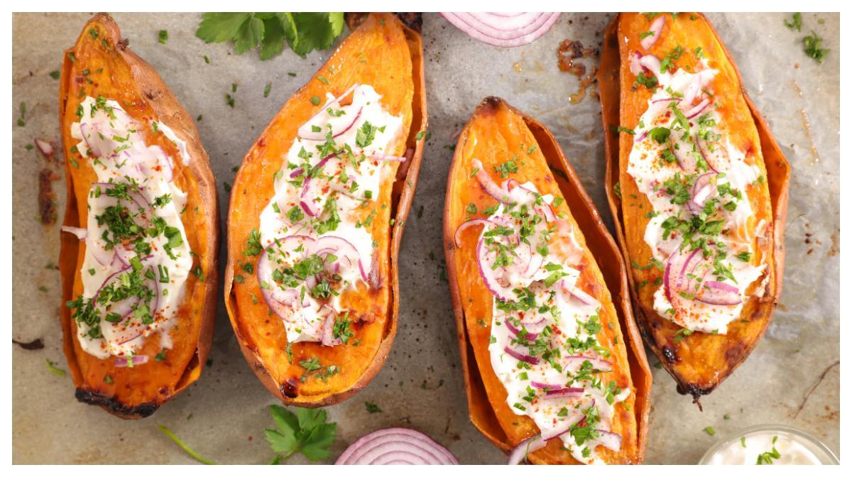 Bakad sötpotatis – gott och lätt att variera.