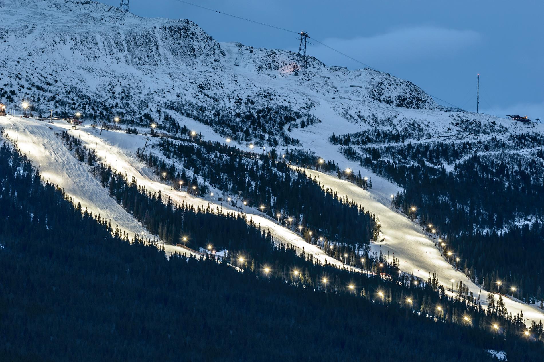 I Åre finns 89 nedfarter.