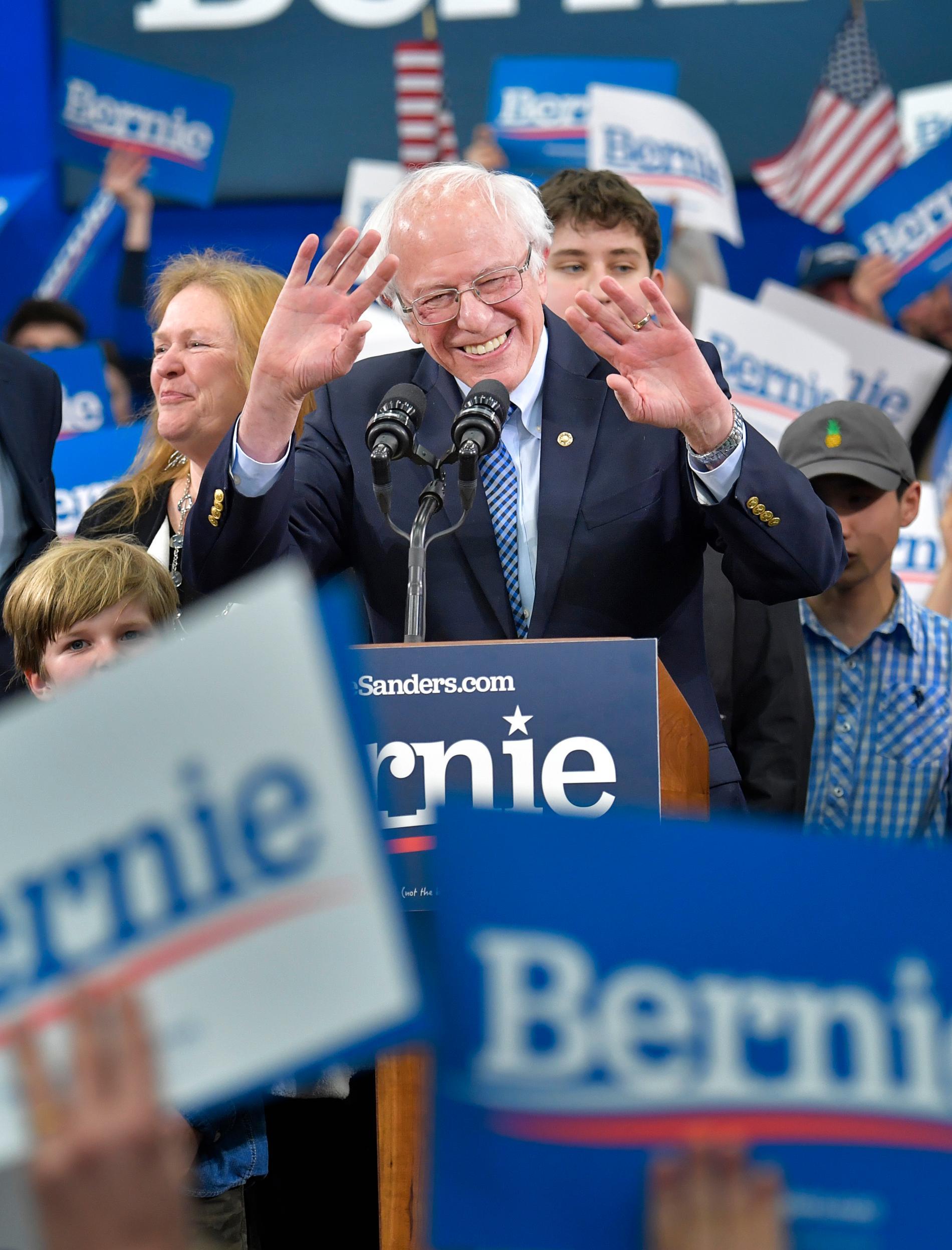 Bernie Sanders ligger just nu i vinnarhålet.