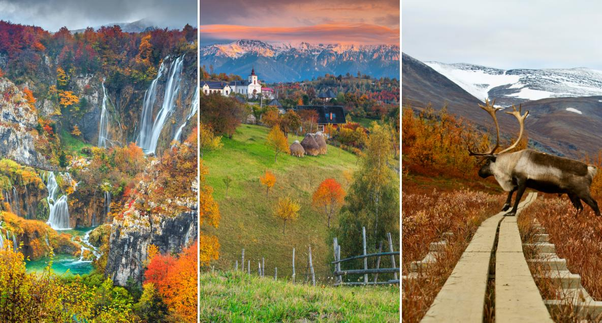 Höstens färger syns extra mycket på dessa platser.