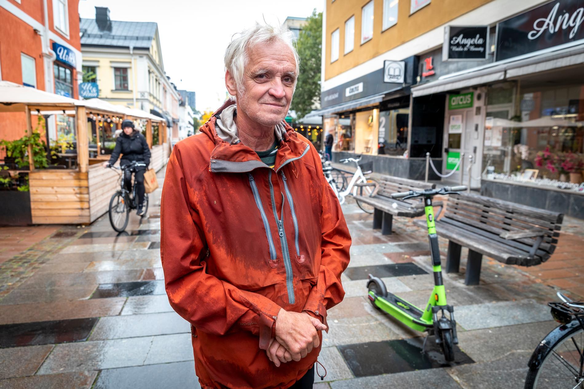Stefan Andersson, 64, fick nog av kaoset på gatorna i Växjö.