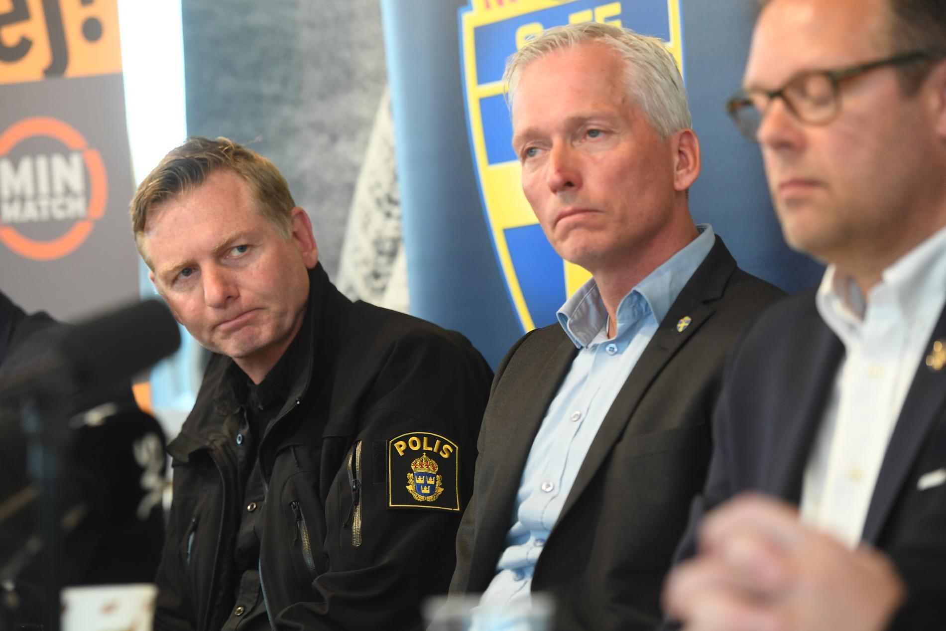 Fredrik Gårdare, chef för polisens aktionsgrupp mot idrottsrelaterad brottslighet.