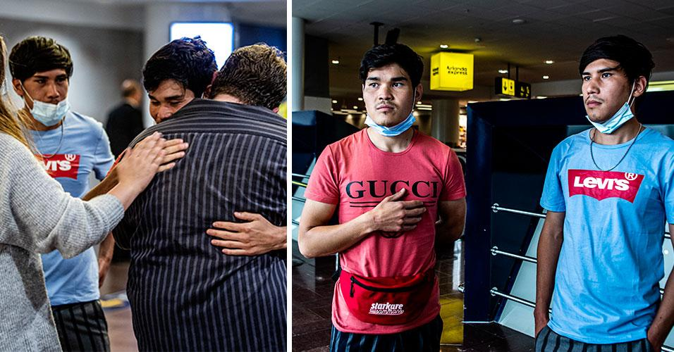 """Evakuerade som landat i Sverige: """"Det känns både bra och sorgligt"""""""