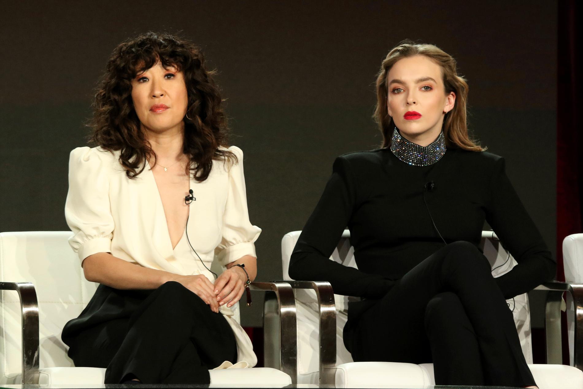 """Sandra Oh och Jodie Comer spelar huvudrollerna i """"Killing Eve"""". Arkivbild."""