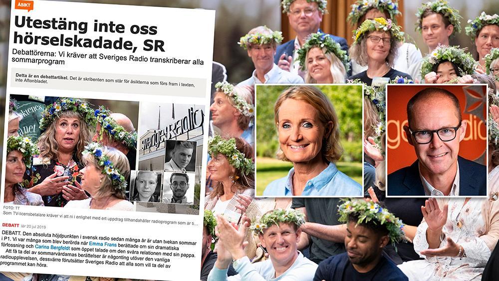 I dagsläget har Sveriges Radio varken rätt att publicera manus eller att transkribera sommarprogrammen, som föreslås i artikeln, eftersom upphovsrätten ägs av sommarvärdarna, skriver Bibi Rödöö och Ulf Myrestam.
