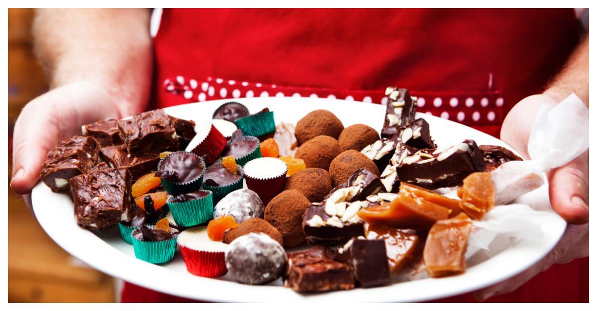 Julmat: Hemgjort julgodis, både roligt och gott.