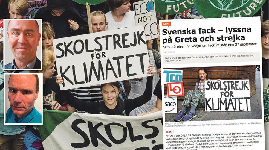 Vi tror inte att gå ut i strejk för klimatet är rätt väg, skriver Jonas Wallin och Petter Johansson från Elektrikerförbundet.
