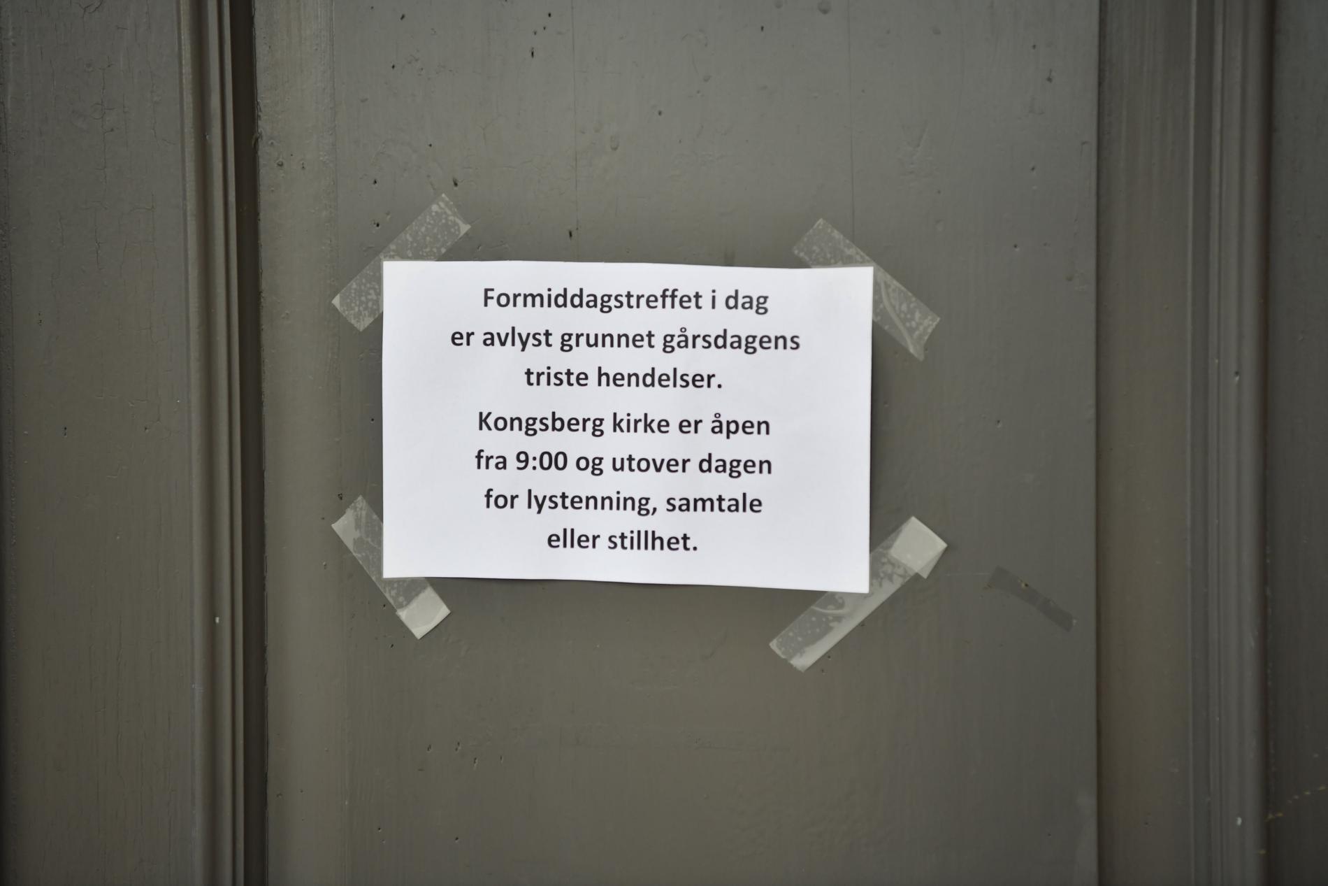 Lapp på kyrkan i Kongsberg.