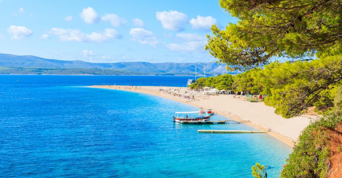 Zlatni Rat beach, Kroatien