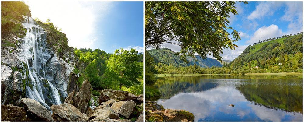 Wicklow bjuder på underbara vattenfall och gröna vyer.