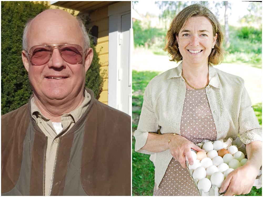 Michael Liedberg, ägare av Ulfstorps gårdsägg och Marie Lönneskog Hogstadius, verksamhetsledare på branschorganisationen Svenska Ägg.