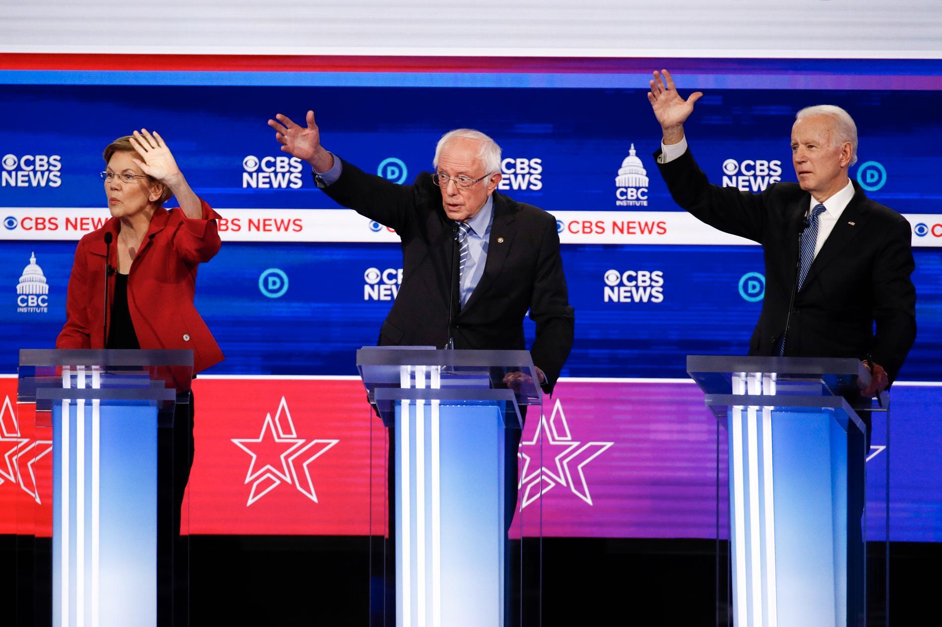 Debatten var bitvis stimmig när presidentaspiranterna slogs om ordet.