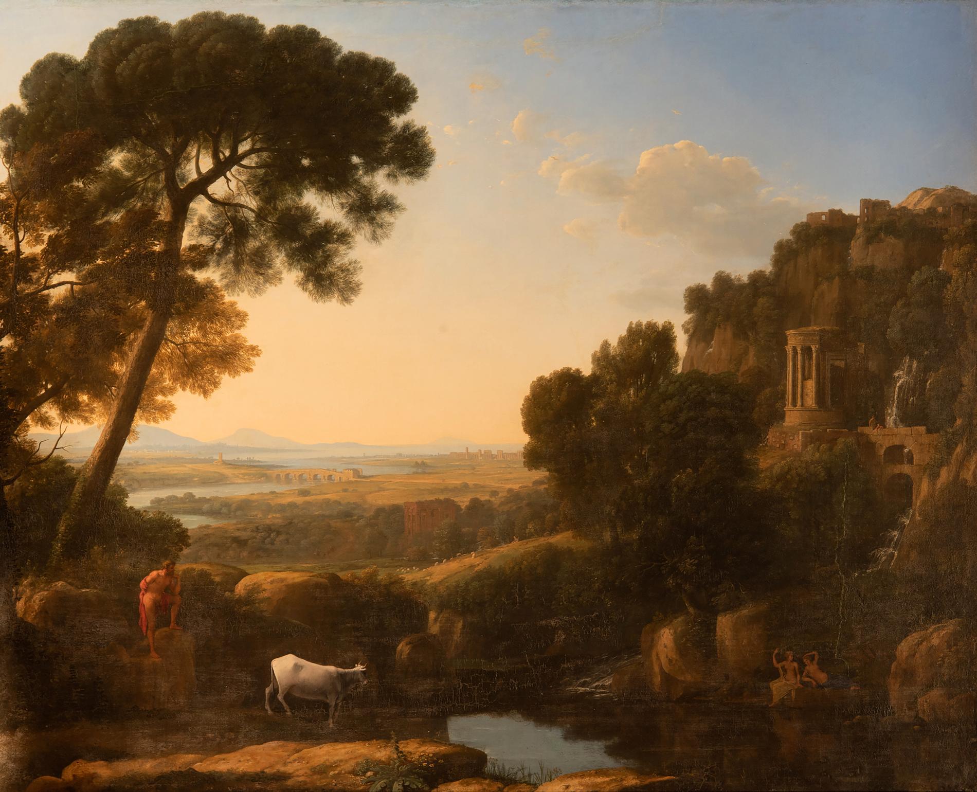 """Claude Lorrain, """"Landskap med Argus som  vaktar Io"""", cirka  1644–1645."""