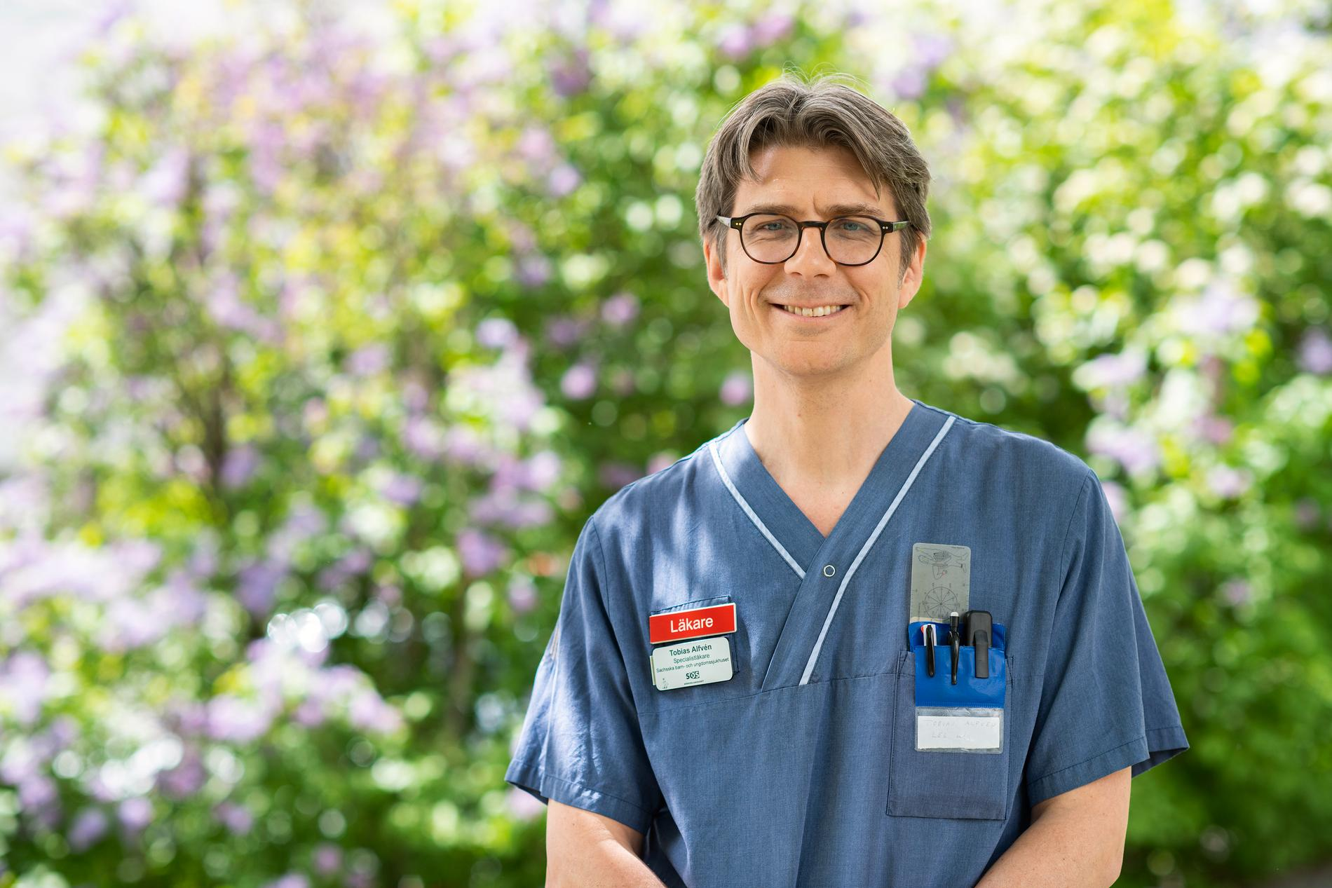 Tobias Alfvén, barnläkare vid Sachsska barn- och ungdomssjukhuset och docent i global hälsa vid Karolinska institutet.