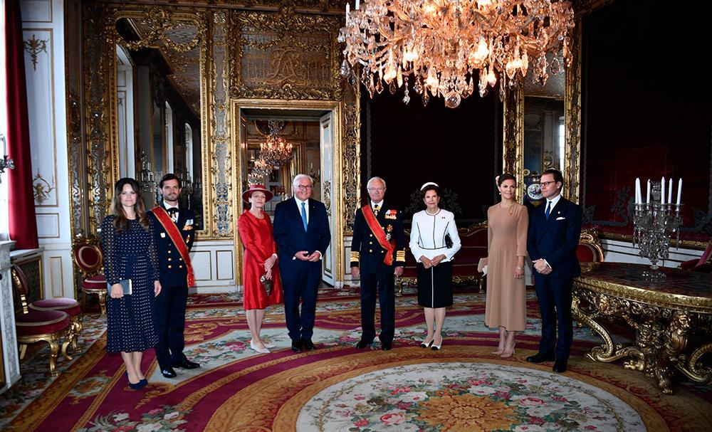 Vid dagens lunch på Kungliga slottet var även prins Carl Philip och prinsessan Sofia med.