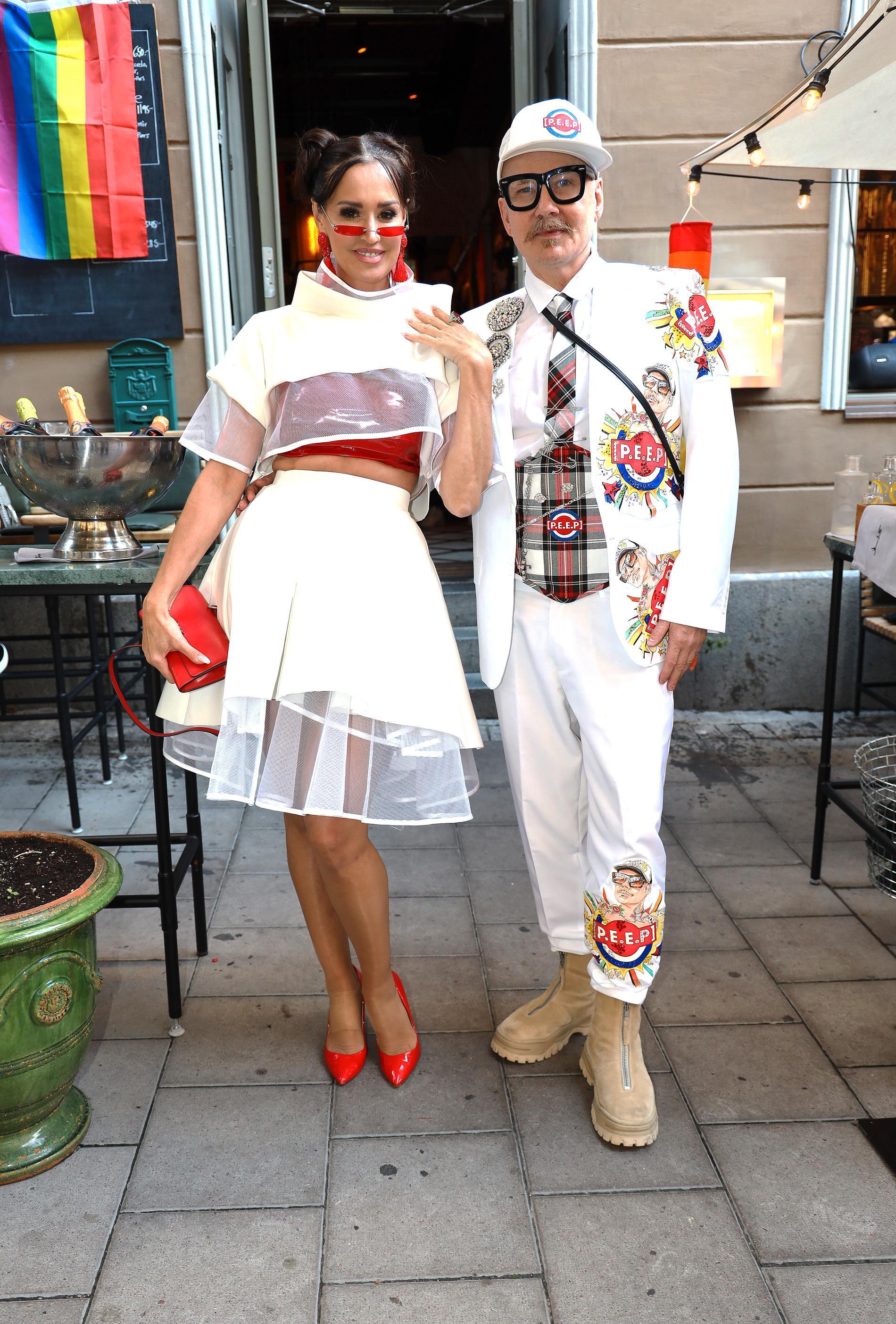 Beba Jonsson och designern Peter Englund.