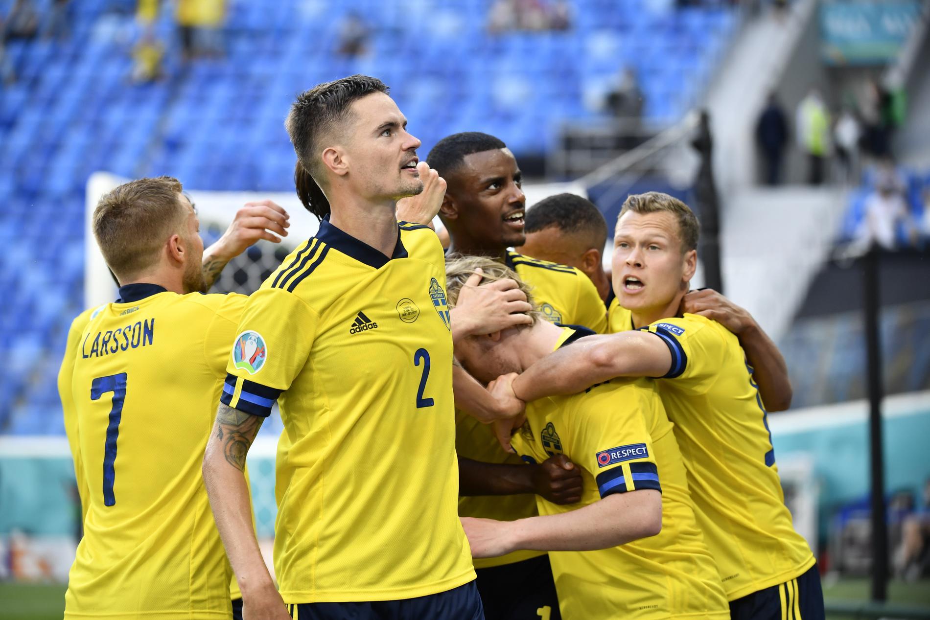 Spelare i svenska fotbollslandslaget för herrar.
