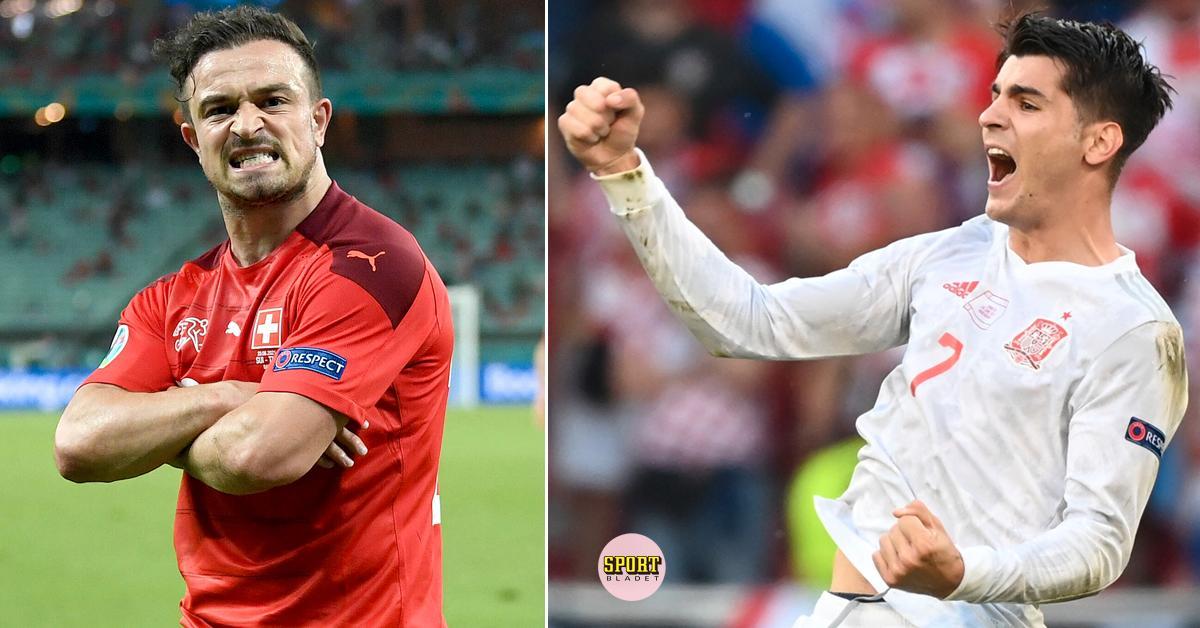 Schweiz och Spanien möts i den första kvartsfinalen i fotbolls-EM 2021.