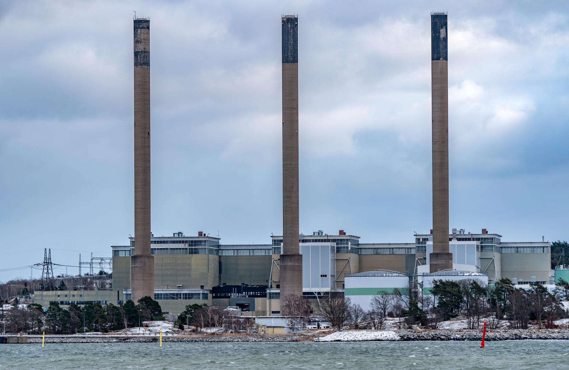 Det oljeeldade Karlshamnsverket har producerat el senaste två veckorna. Arkivbild