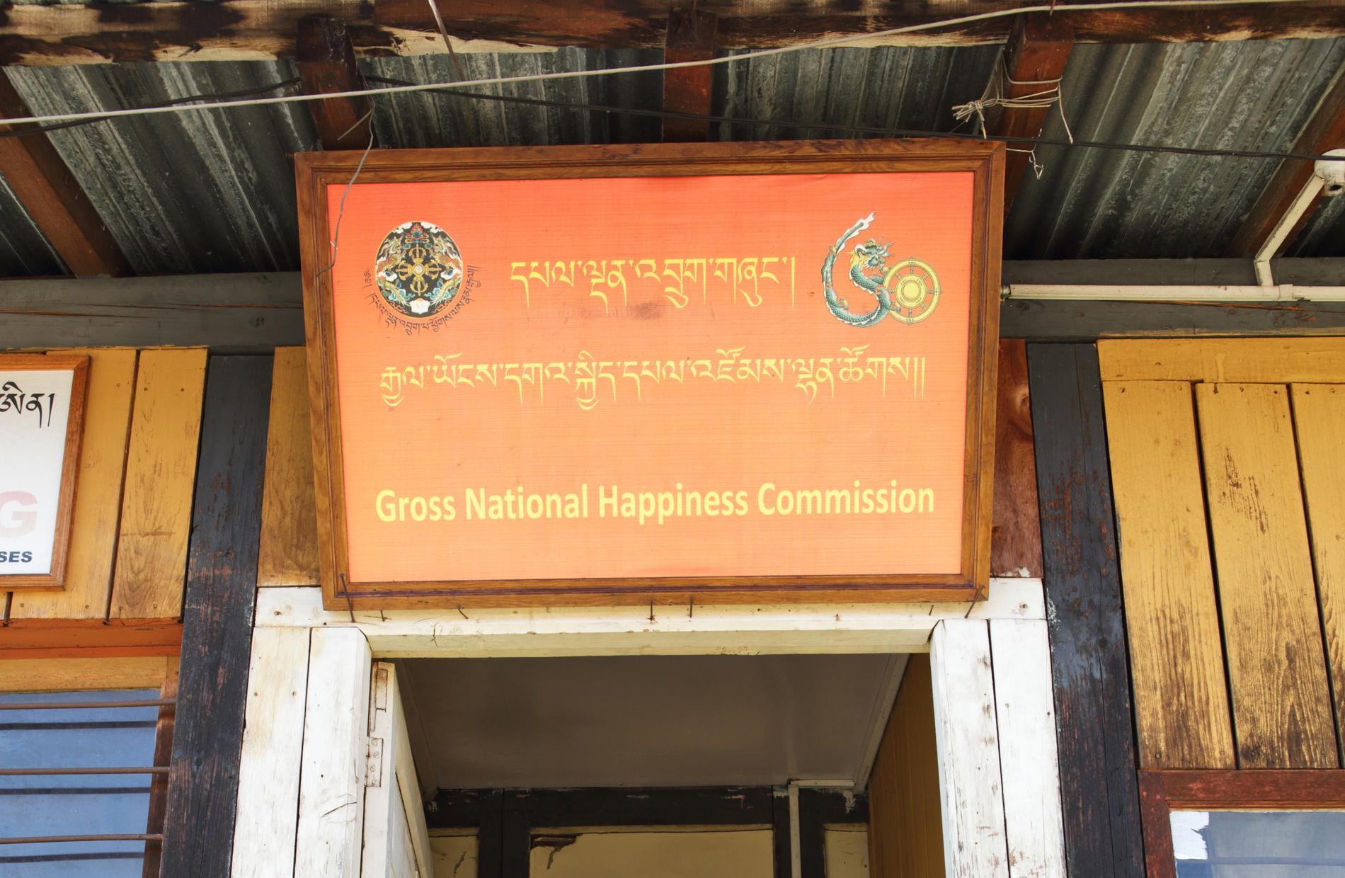 I Bhutan mäts bruttonationallycka.