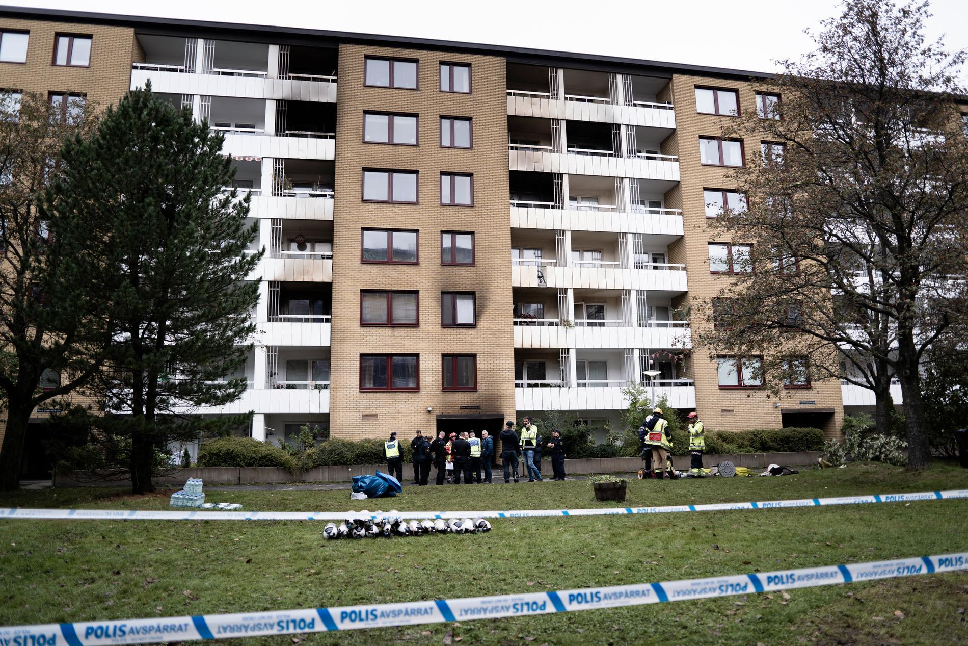 Flerfamiljshuset där explosionen inträffade.