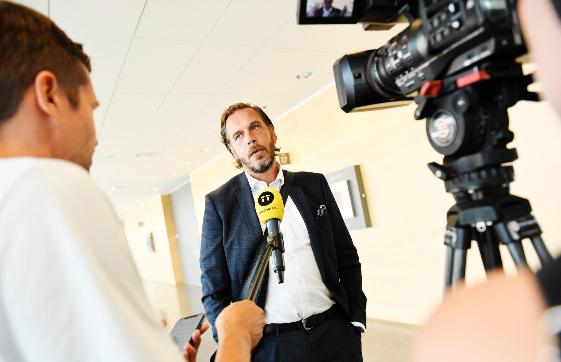 Åklagare Stefan Creutz efter tisdagens häktningsförhandling i Södertörns tingsrätt.
