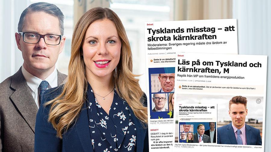 I slutet är detta enkelt. Vi måste minska utsläppen och möjliggöra att Sverige och Europa kan ställa om, inte ned. Då behövs kärnkraft men också alla andra fossilfria kraftslag. Slutreplik från Lars Hjälmered och Jessica Rosencrantz.