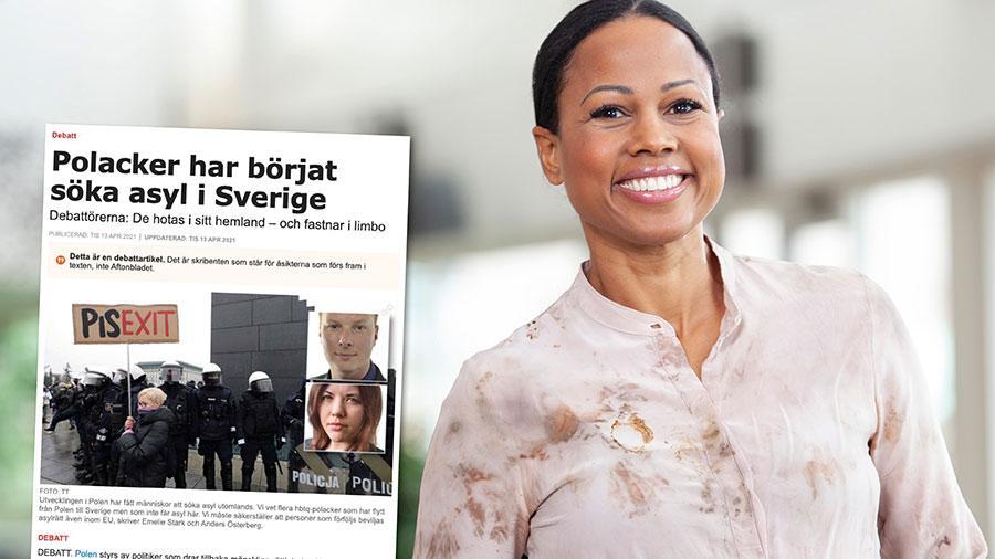 Polska hbtqi-personer kan inte nekas asyl i Sverige på grund av det så kallade Aznarprotokollet. Ett undantag i protokollet gör det möjligt för EU-medborgare att söka asyl i ett annat EU-land om hemlandet utreds för brott mot EU-fördragen. Replik från Alice Bah Kuhnke.