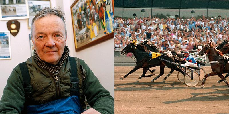 Torbjörn Jansson har vunnit det mesta som går att vinna inom travet. Bilden till vänster: Guldklockan från 2019. Bilden till höger: Segern i Elitloppet med Meadow Road (1985).
