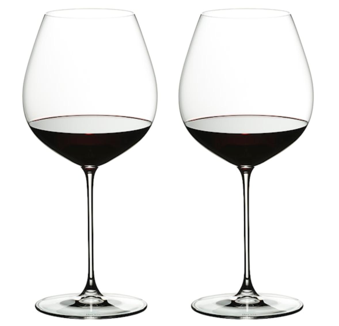 Snygga glas till Pinot Noir.