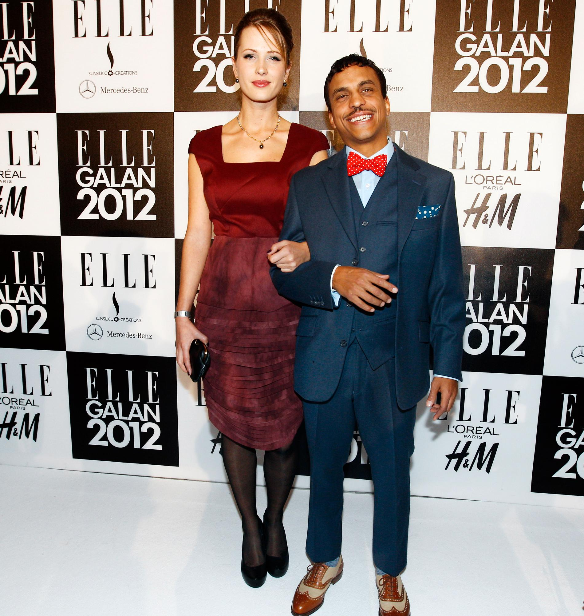 """Jason """"Timbuktu"""" Diakité tillsammans med flickvännen Ronja Ljunghager på Elle-galan i januari."""
