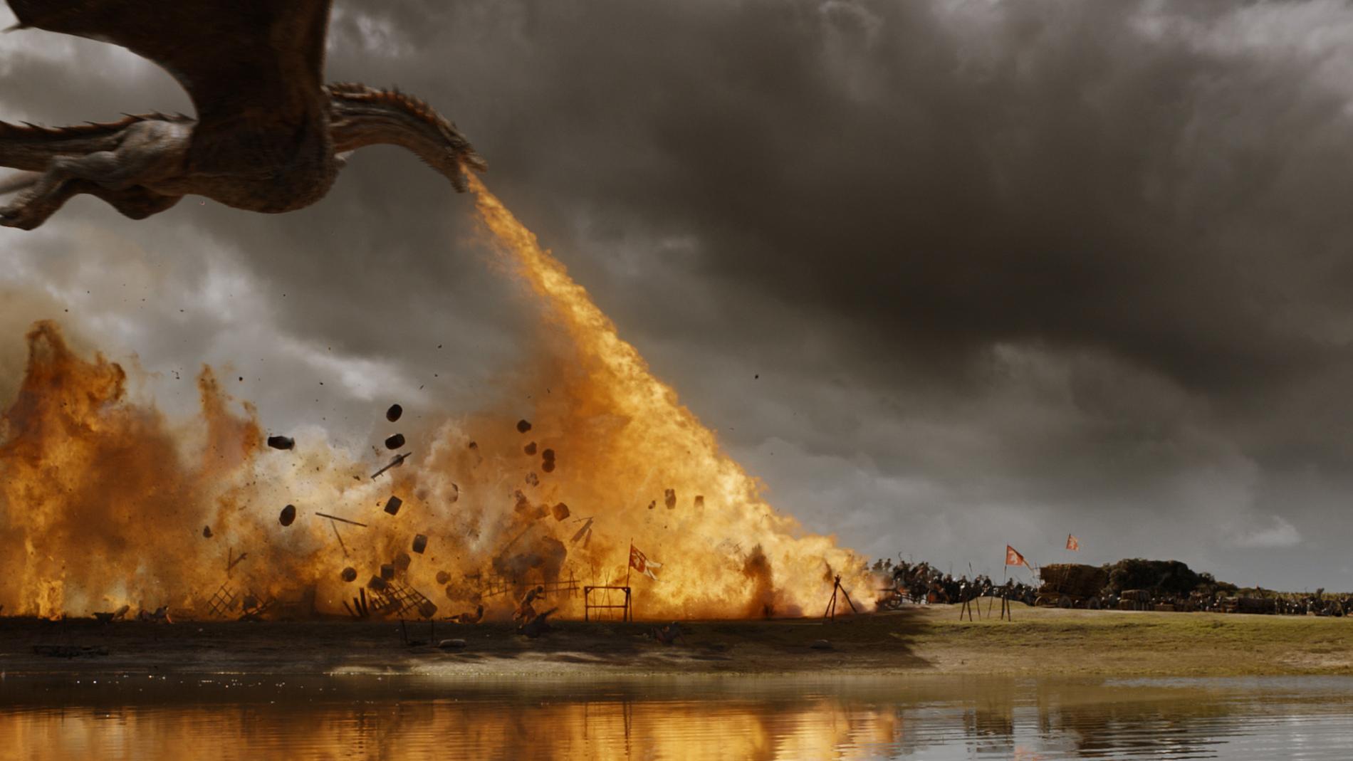 """Drakar lockar, åtminstone amerikanska tittare till serien """"Game of thrones"""". Arkivbild."""