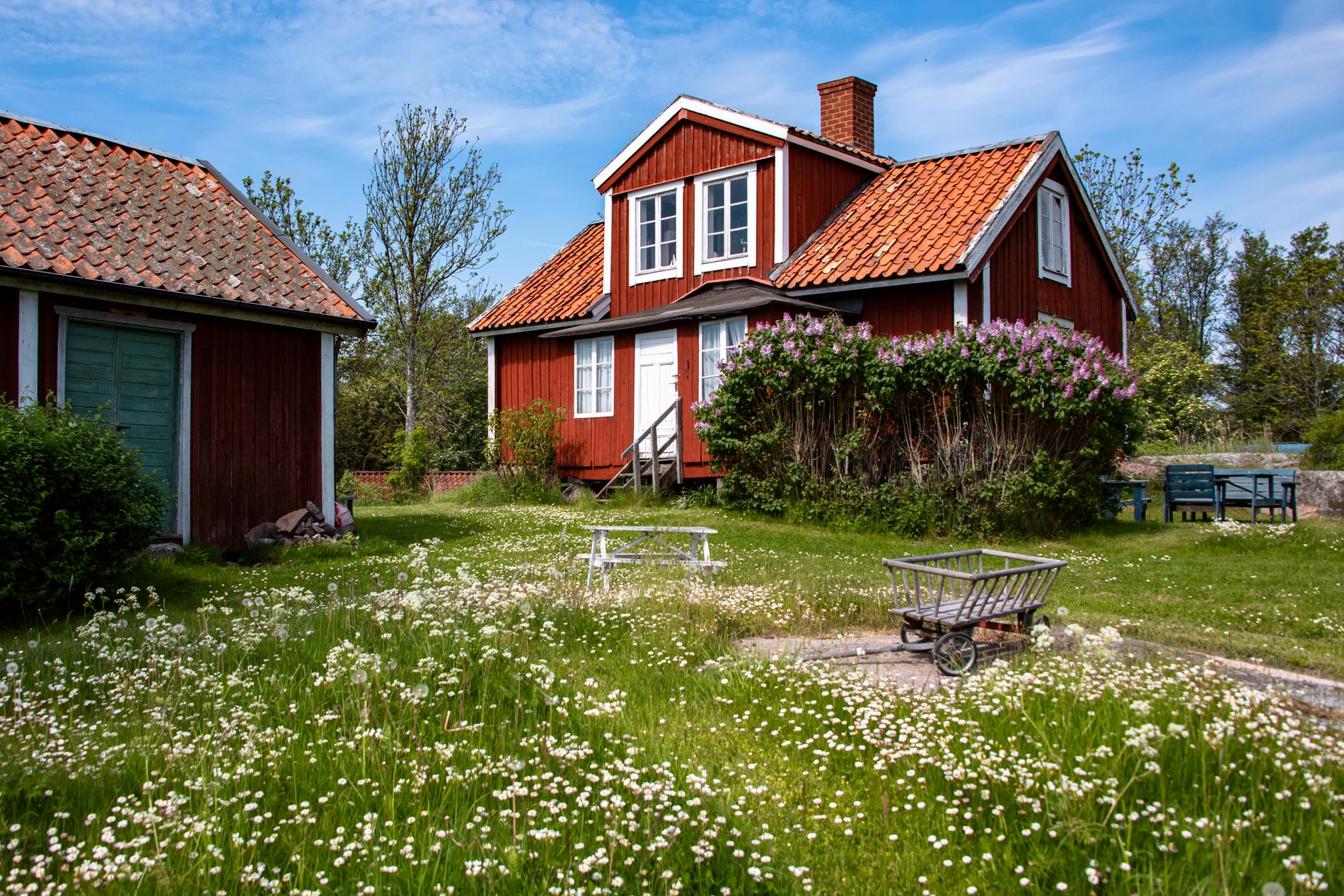 """""""Snickargården"""" på Norröra."""