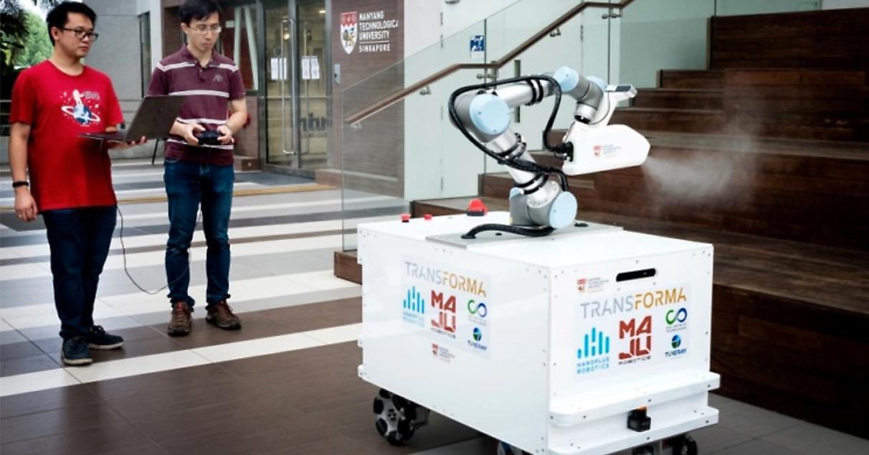 Forskare i Singapore har tagit fram en saneringsrobot.