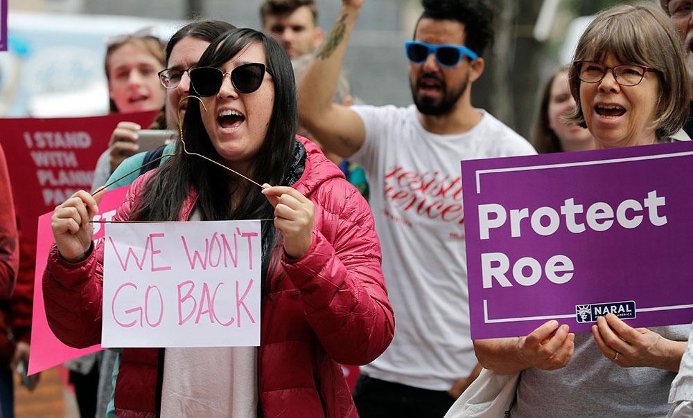 Demonstration för aborträtten i Seattle, USA, 2018.